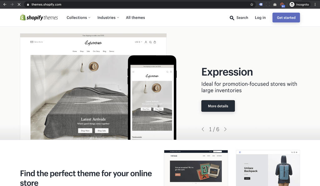 shopify theme marketplace