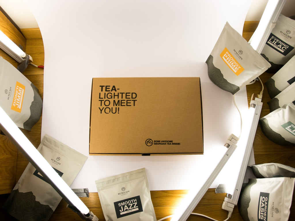 tea box from Renegade Tea Estate