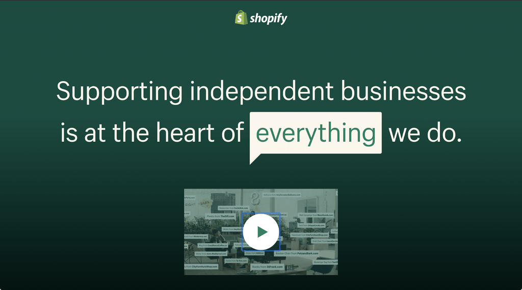 shopify independent businesses