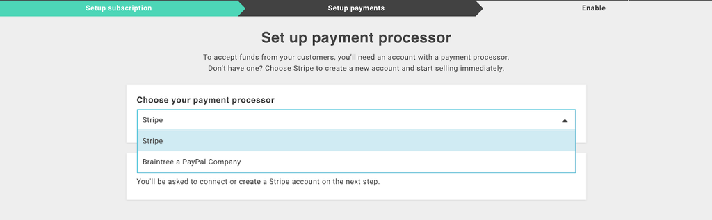 setting up payment for Subscription app