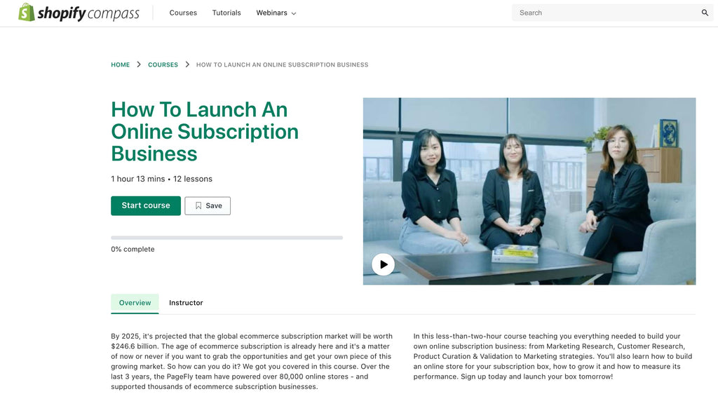 how to launch an online subscription business course