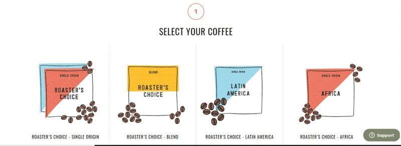 select your coffee