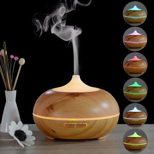 300ML Wooden Aromatherapy Essential Oil Diffuser