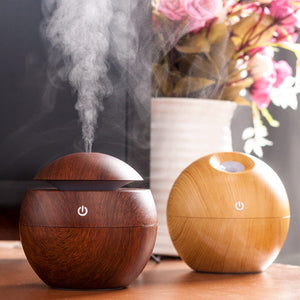 Wooden Color Changin LED Essential Oil Diffuser