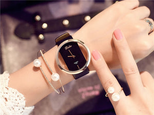 Elegant Luxury Leather Watch