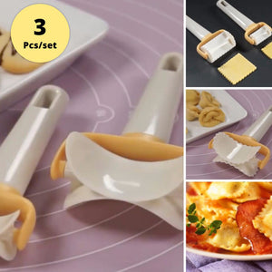 Rolling Crimped Circle Cutter 3 Pcs/Set