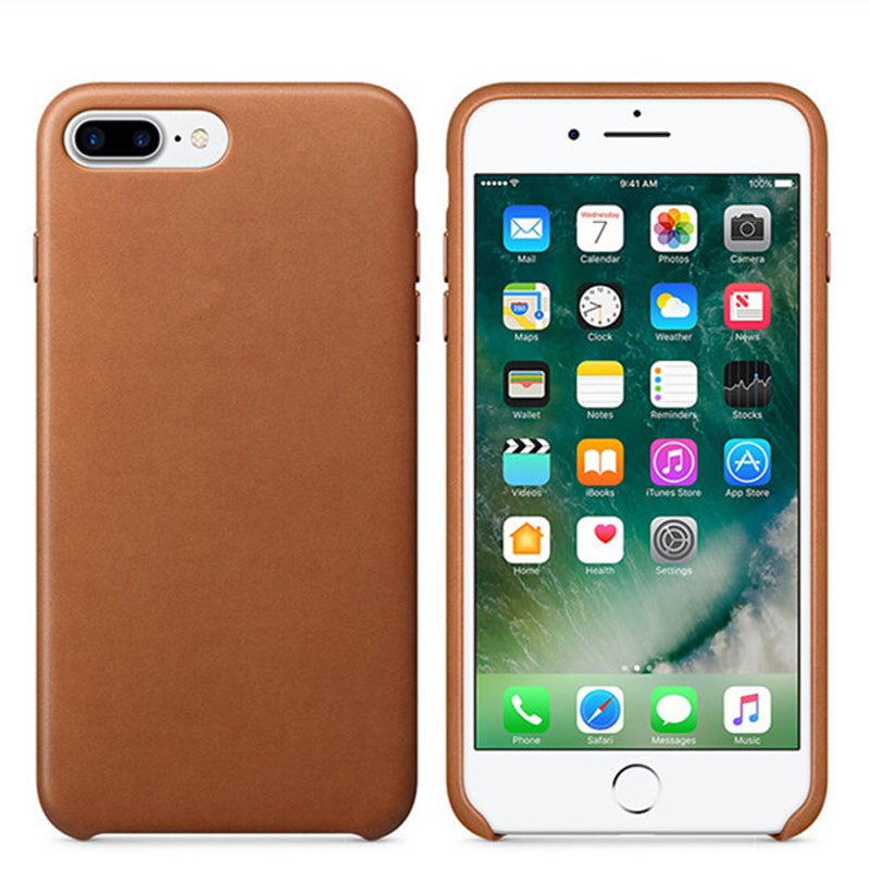 Housse de protection cuir pour Iphone MARRON