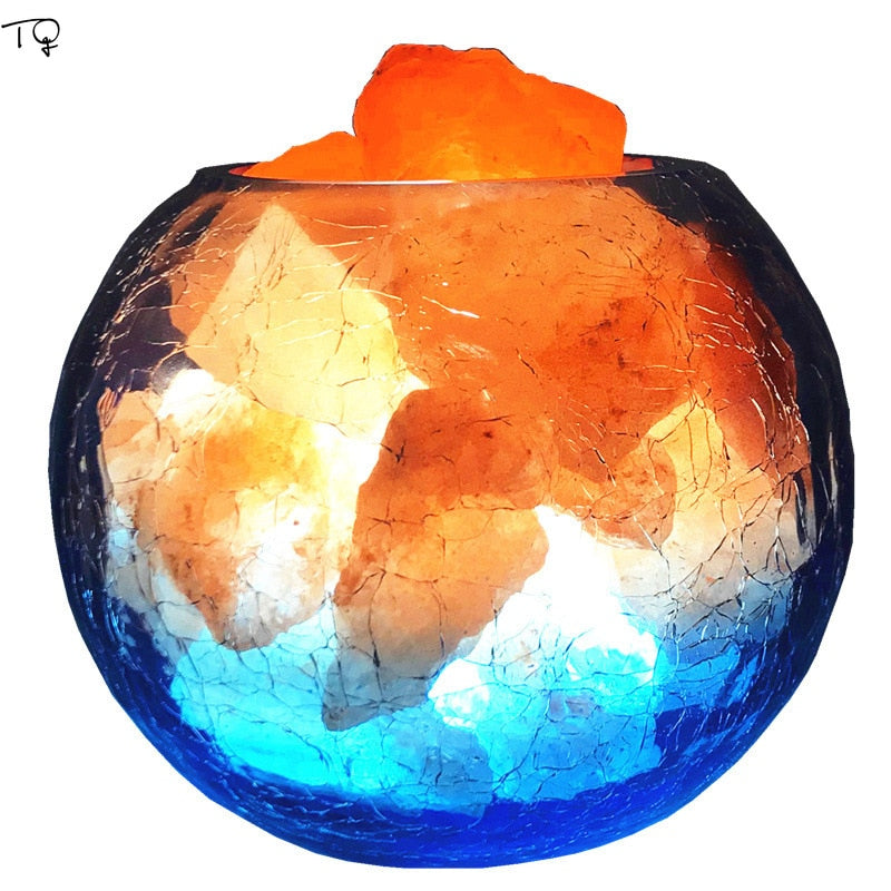 Colorful Himalayan Rose Crystal Salt Lamp - Powerful Air Purifier - Highbrate - The Vibrate Higher Store