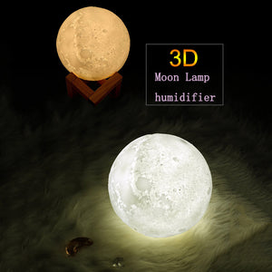 essential oil diffuser and humidifier 3D moon lamp for high vibrations
