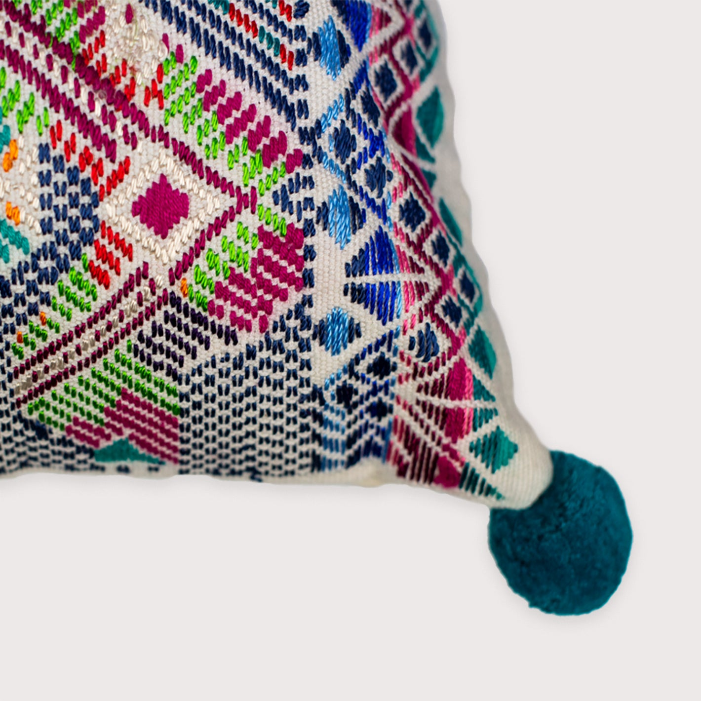 B'atz' - turquoise Pixan Pillow - White Label Project