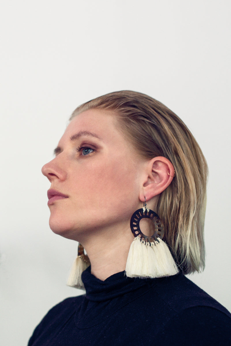 Sol Earrings Taller Maya x Caralarga Earrings - White Label Project