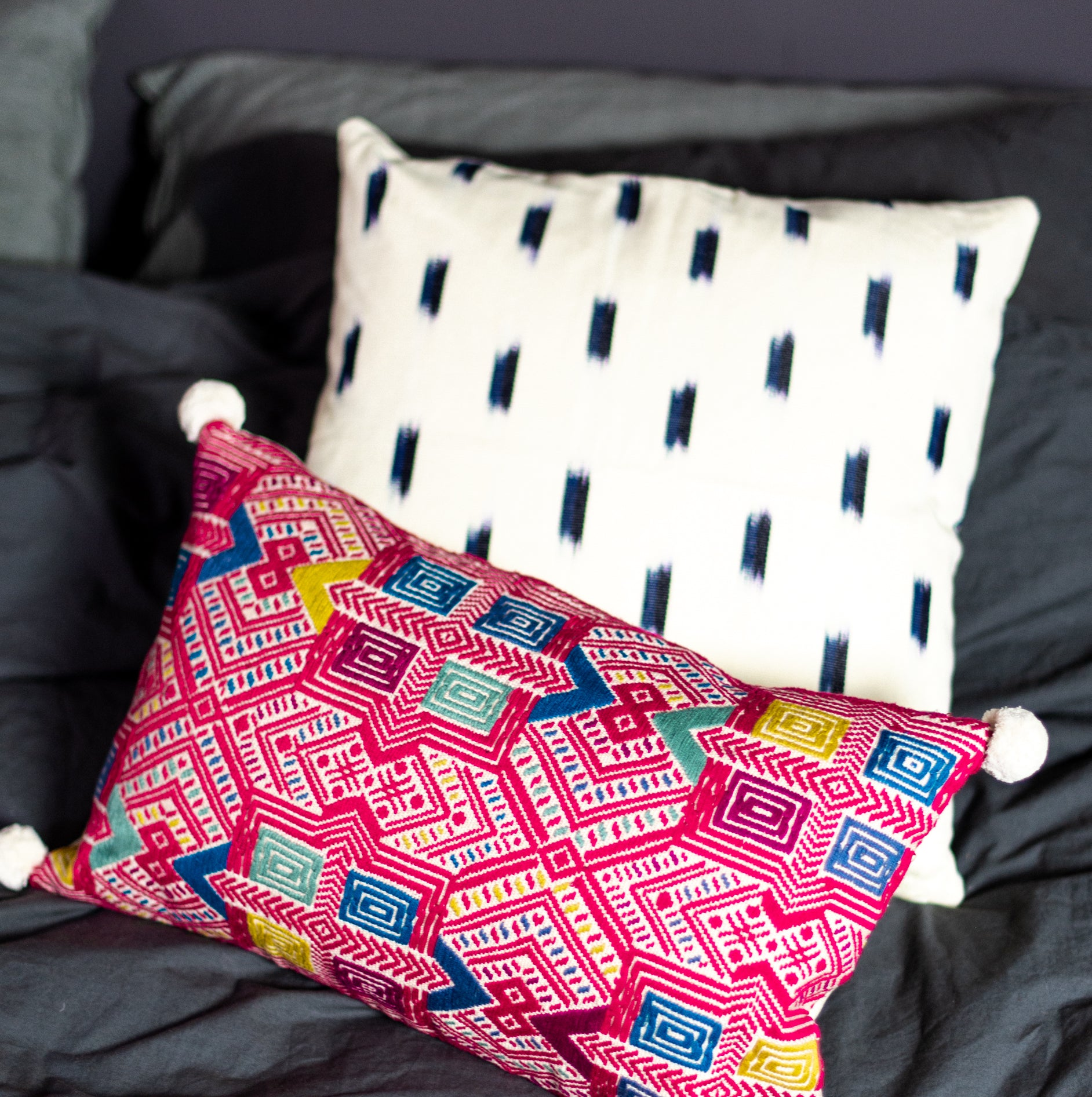 B'atz' - pink Pixan Pillow - White Label Project