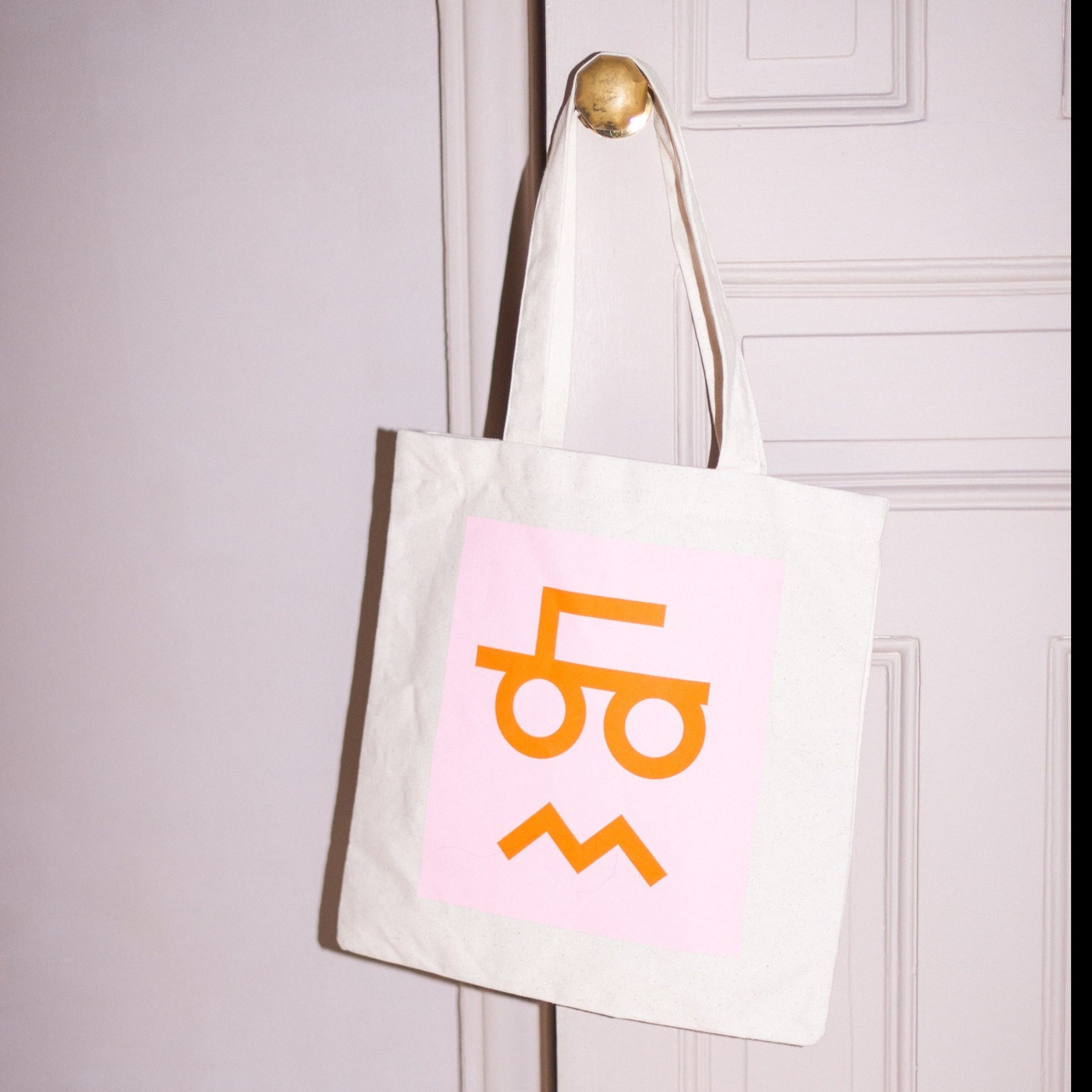 WLP Tote - moustache face Freeset/WLP Bag - White Label Project