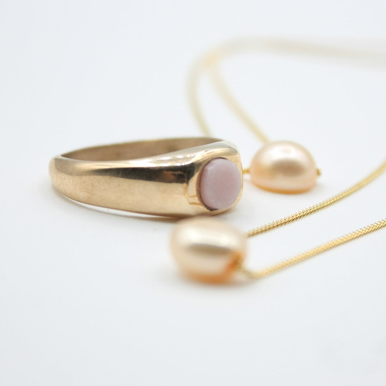 Rosé Signet Ring Lorne Ring - White Label Project