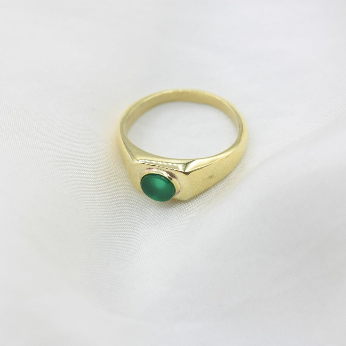 Green Signet Ring Lorne Ring - White Label Project