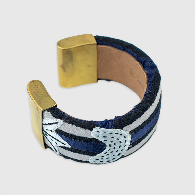 La Luna Kuna Bangle Mola Sasa Bracelet - White Label Project