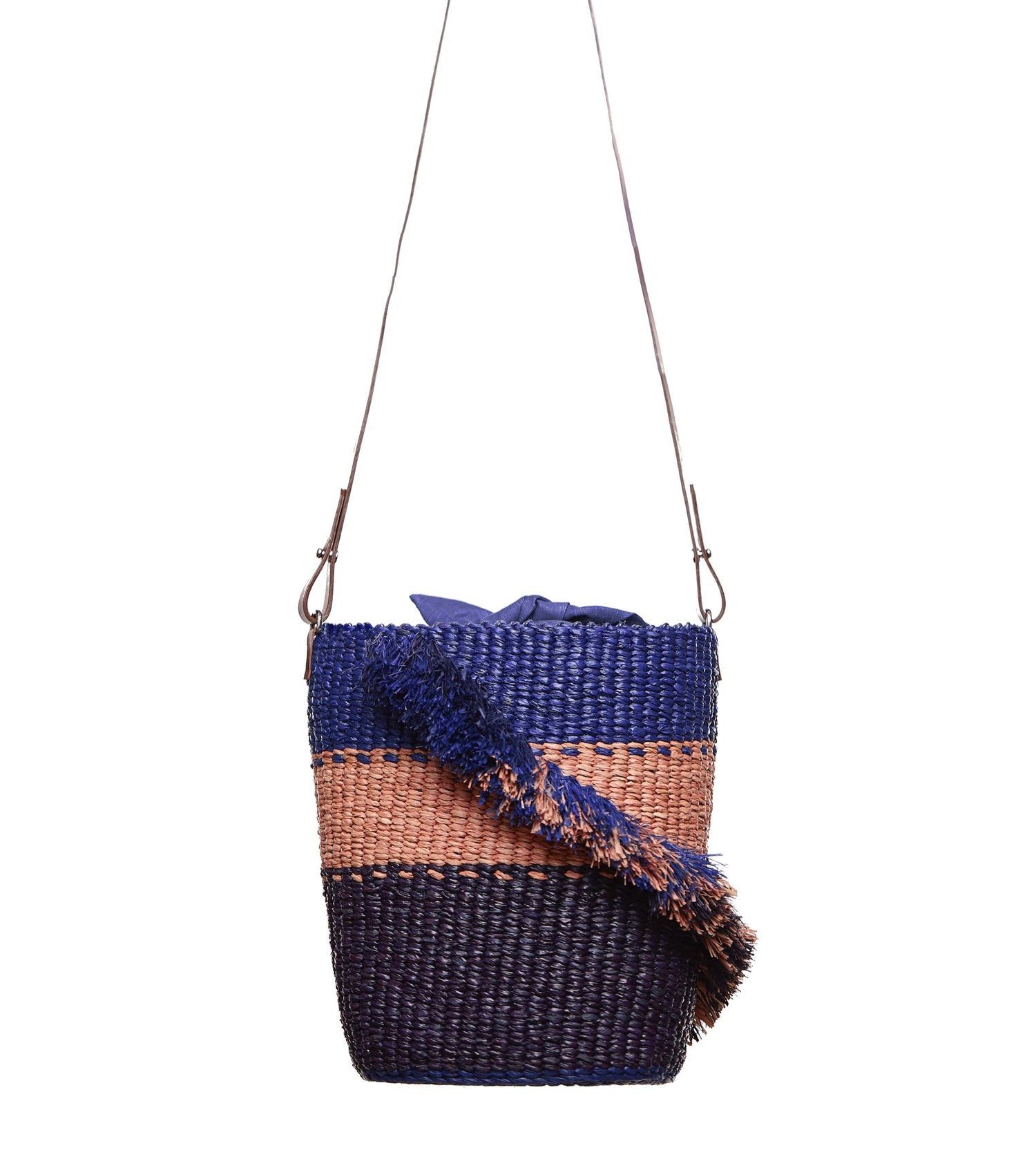 Lamé Ruffle Blue A.A.K.S. Bag - White Label Project