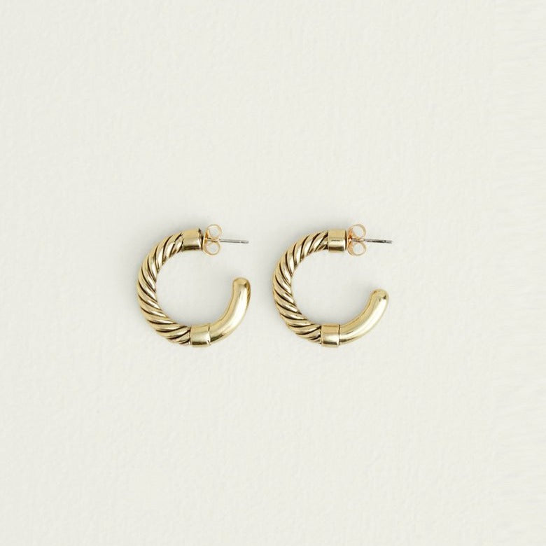 Uzi Mini Hoops Soko Earrings - White Label Project