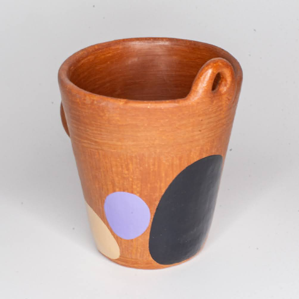 Señorcito Mug - purple/ black/ beige