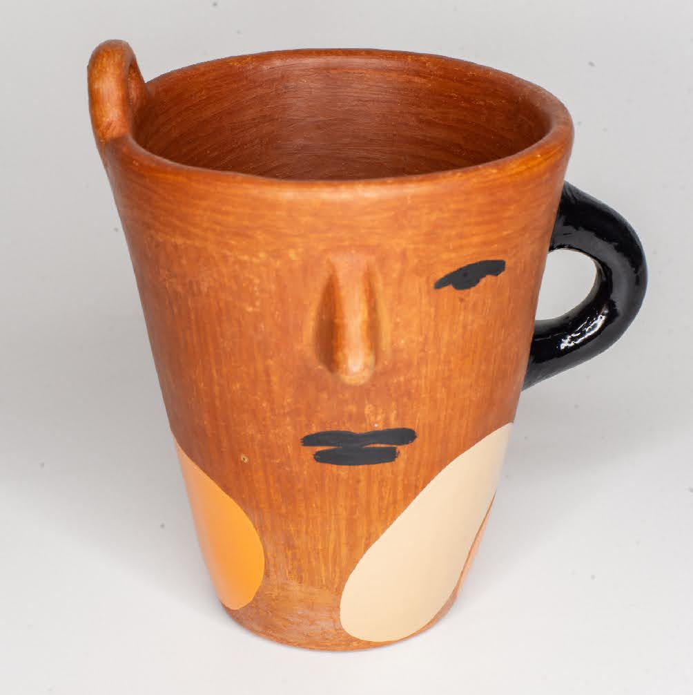 Señorcito Mug - orange/ black/ beige