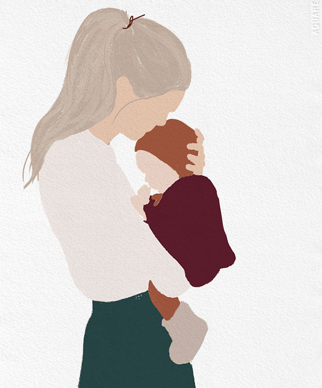 Motherhood baby art print