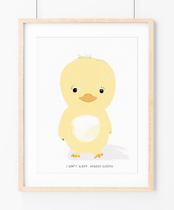 "Poster ""Never Sleeps Chick"""