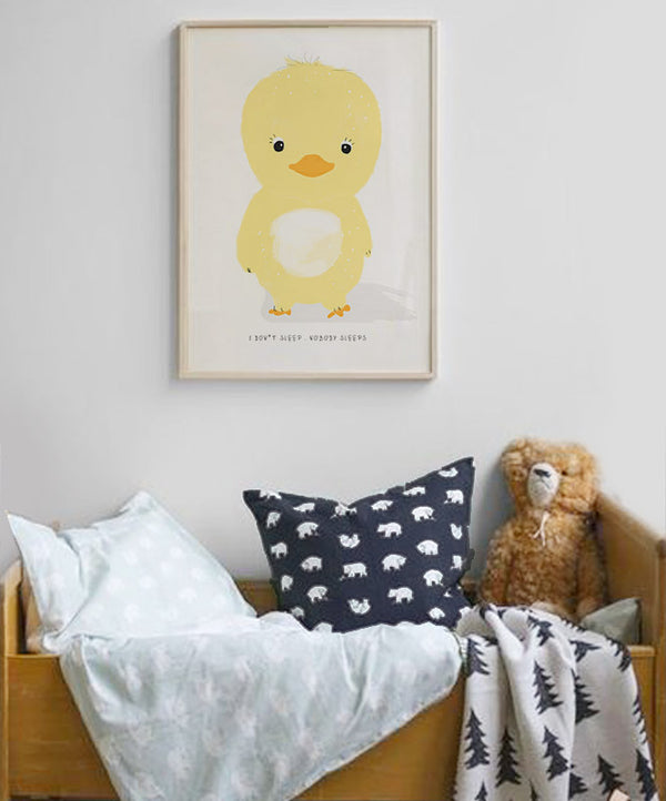 Never Sleeps Chick Art Print