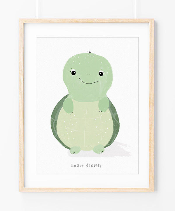 "Poster ""Slow Turtle"""