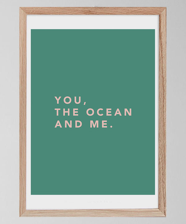 "Poster ""You, the Ocean and Me"""