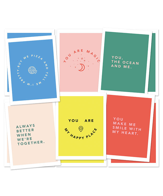 Love Postcards - pack of 6