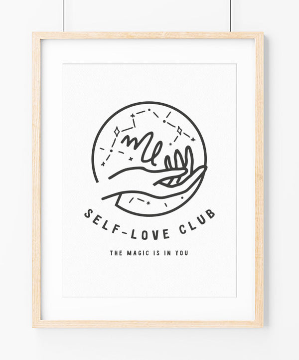 Self-Love Club Art Print