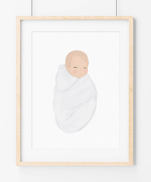 "Póster ""Baby White"""