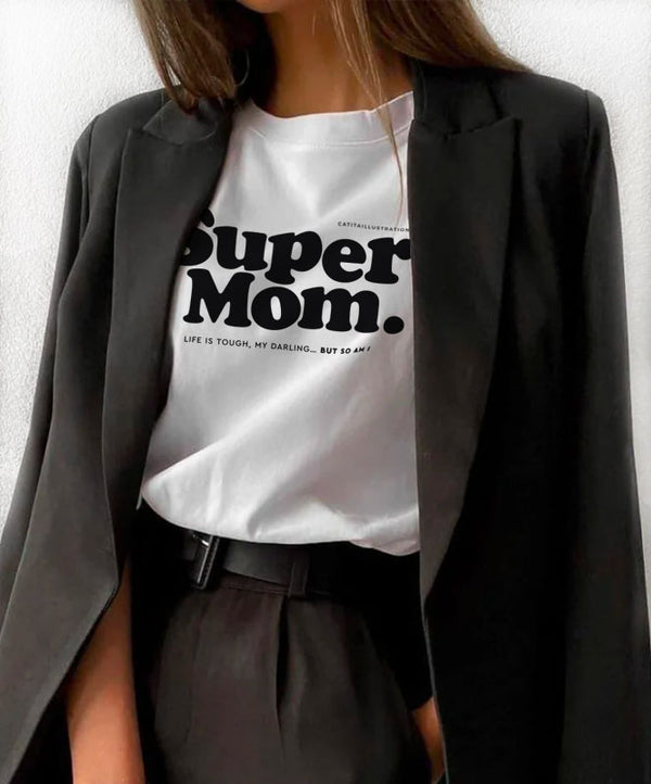 "T-shirt ""Super Mom"""