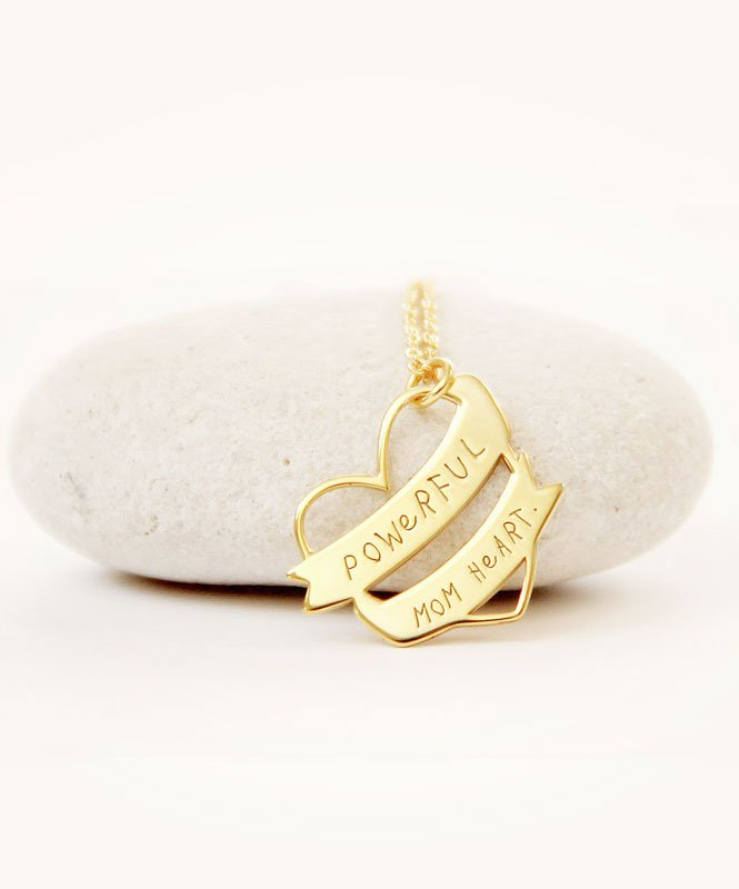 Powerful Mom Heart Necklace