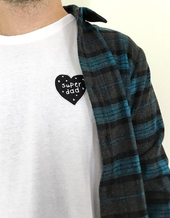"Camiseta ""Super Dad Heart"""