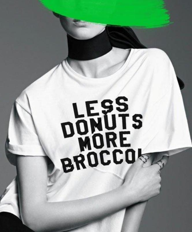 Less donuts, more broccoli