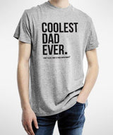 Coolest Dad T-Shirt (white/grey)