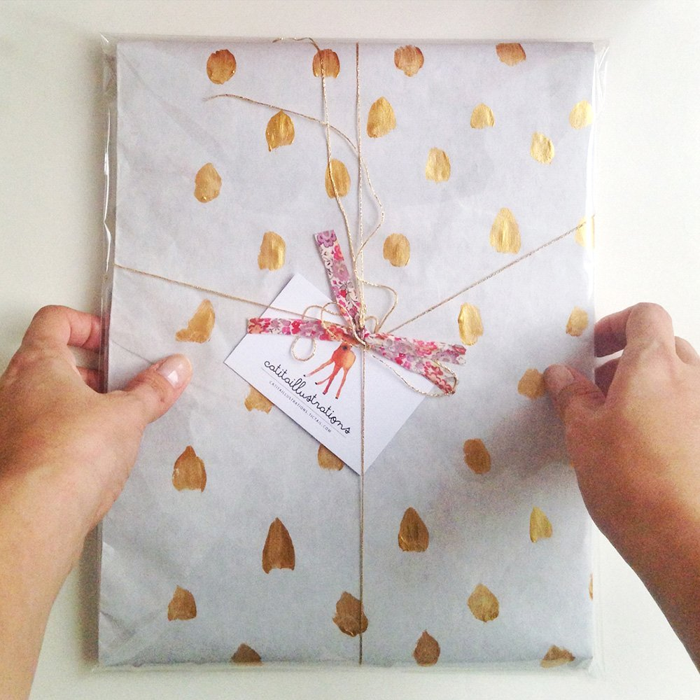 Golden spots Paperbag
