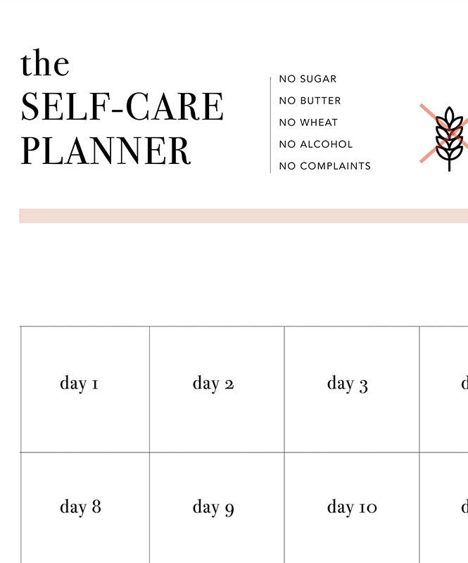 "Free ""Self-care Planner"""