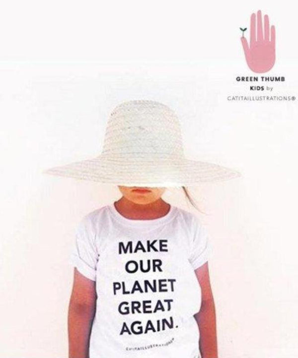 "Camiseta niños ""Make our planet great again"""