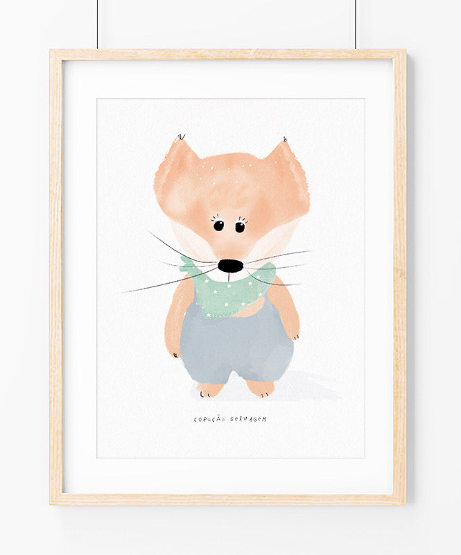 Baby Fox Poster