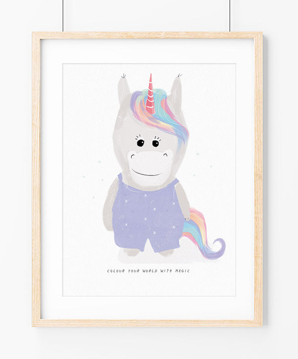 Unicorn World Art Print