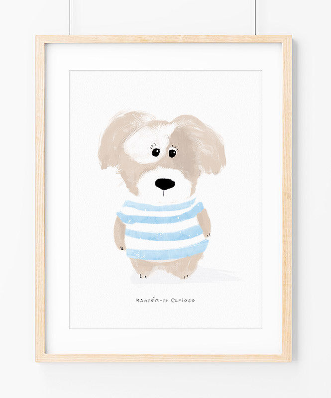Curious Dog Art Print