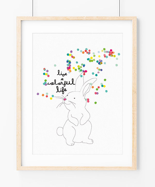Colorful life Art Print