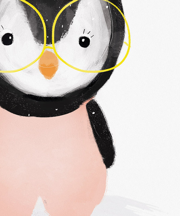 Cool Penguin Art Print