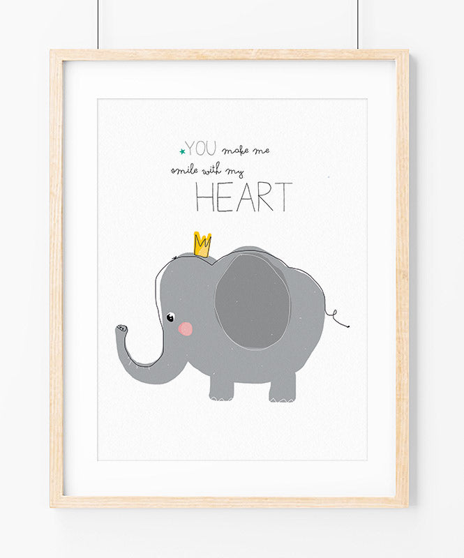 King Elephant Art Print