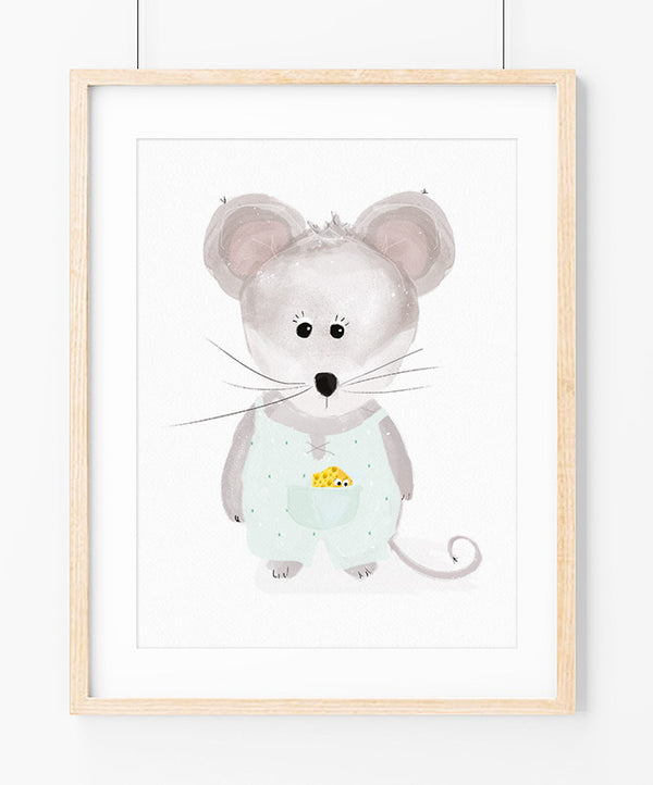 Summer Little Mouse Art Print