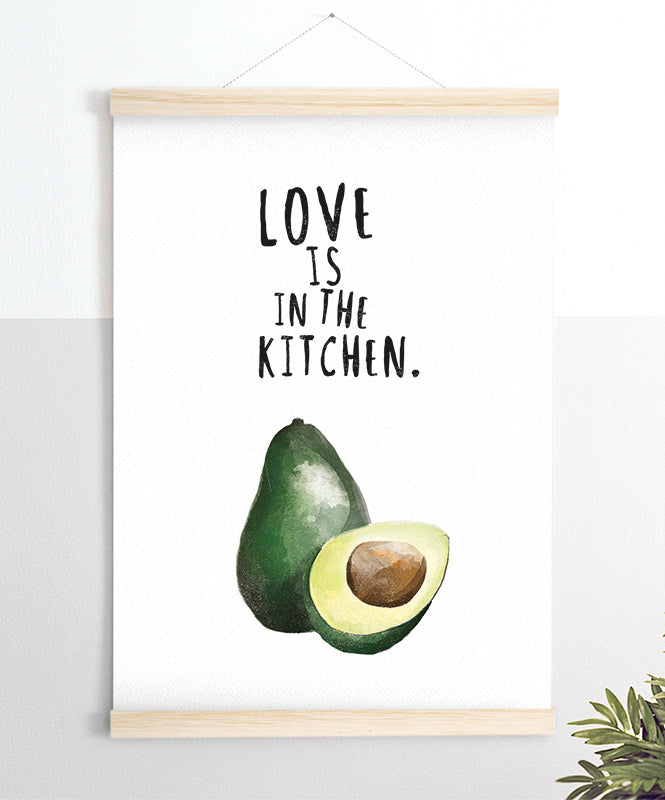 Love is in the kitchen Art Print