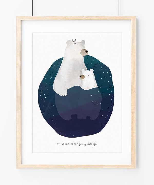 Polar bears Art Print