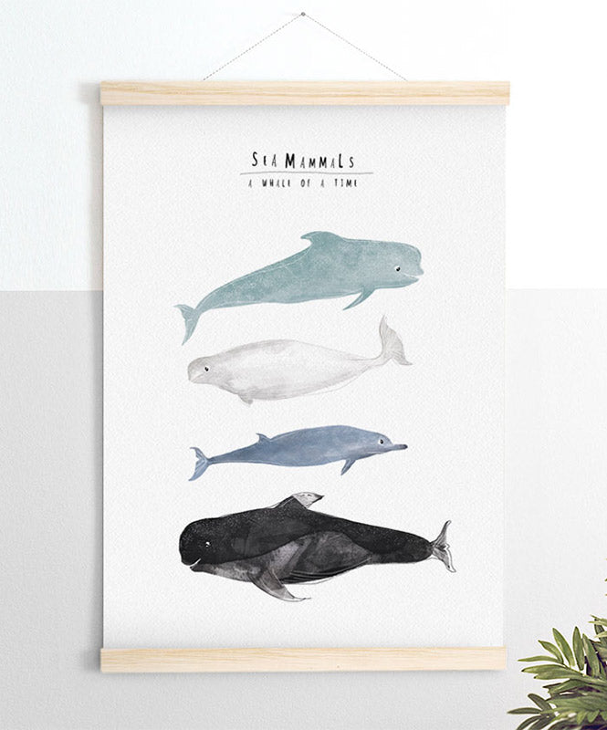 Sea mammals for kids Art Print